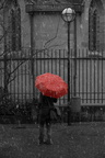 Saul Leiter Inspiration - Red umbrella